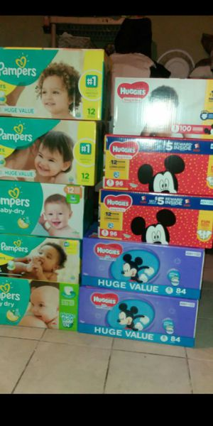 All sizes in huggies,pampers,luvs and a variety of enfamils (all colors) and also I have similac for Sale in Vallejo, CA