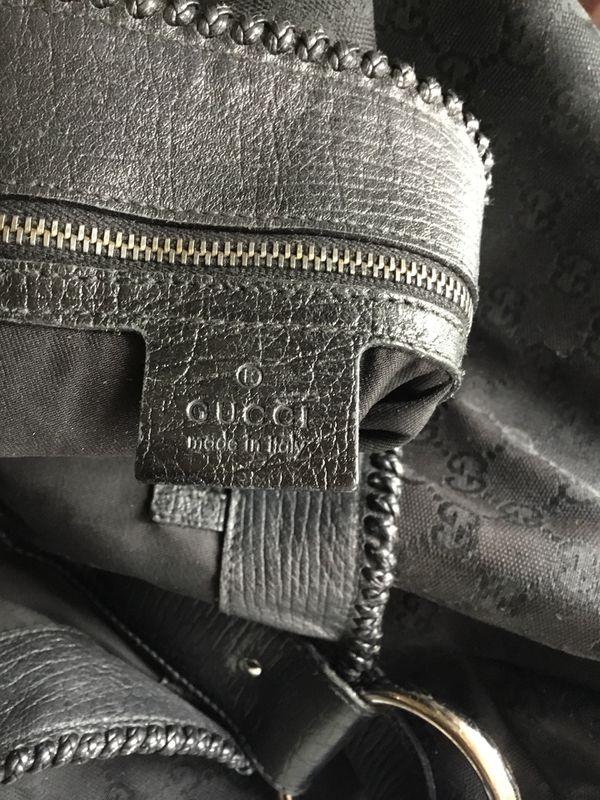 "AUTHENTIC Gucci Black ""Original GG"" Canvas ""Large Horsebit Hobo"" Bag🚨🚨🚨🚨🚨🚨"