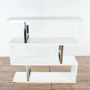 White and Chrome Bookcase (1028843) for Sale in South San Francisco, CA
