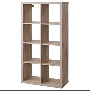 IKEA book case walnut shelve 8 cube kallax series 30 3/8x57 7/8 for Sale in Pickens, SC