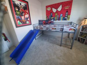 Twin bed frame with slide for Sale in Lake Elsinore, CA