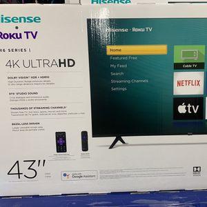 "BRAND NEW 43"" HISENSE ROKU 4K SMART TV for Sale in Anaheim, CA"