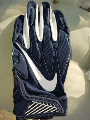 BRAND NEW Nike Superbad 4 Navy White Football Gloves Youth Kids Size Large for Sale in West Covina, CA