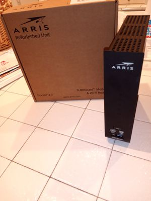Arris refurbished unit surfboard modem&wifi router for Sale in Los Angeles, CA