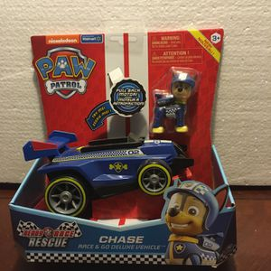 PAW Patrol, Ready, Race, Rescue Chase's Race & Go Deluxe Vehicle with Sounds, for Kids Aged 3 and Up for Sale in Queen Creek, AZ