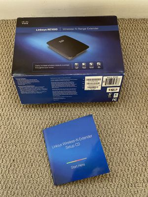 Linksys RE1000 Wireless-N Range Extender includes box and all cables for Sale in Austin, TX