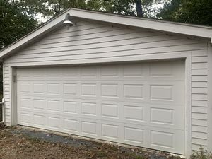 18x7 Insulated Garage Door (with tracks and tension spring) for Sale in Clayton, NC