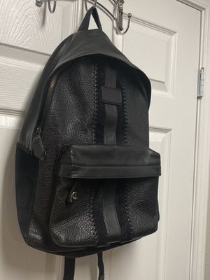 Coach Men's Black Leather Backpack Bookbag for Sale in Las Vegas, NV