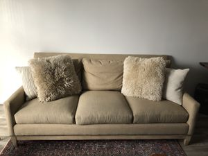 Arhaus Couch with Pillows for Sale in Detroit, MI