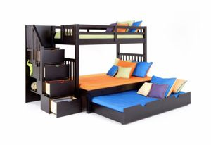 Twin Over Full Bunk Bed with Trundle for Sale in Chicago, IL