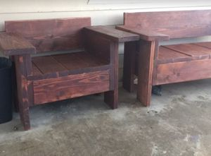 Wooden Patio Bench / Chair for Sale in Ramona, CA
