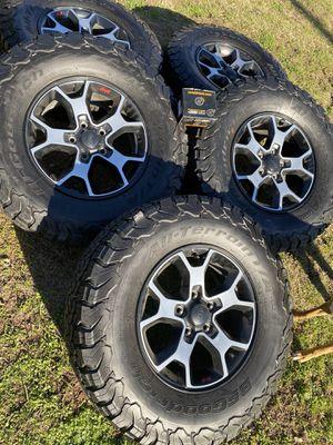 2019 Jeep Wrangler rubicon wheels for Sale in Grand Prairie, TX