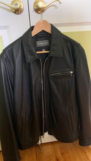 Michael Kors Leather jacket men's Large for Sale in Brooklyn, NY