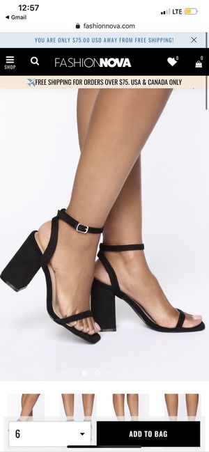 Fashion Nova shoes size 10 for Sale in Fort Worth, TX