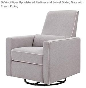 New DaVinci Piper All-Purpose Upholstered Recliner with Cream Piping for Sale in Canal Winchester, OH