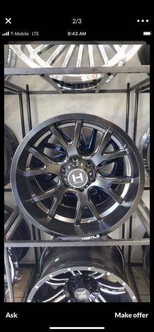 20x10 hostile rims 6 lug 6x139 whit New MUD tires 33 1250 20 lt for Sale in Phoenix, AZ