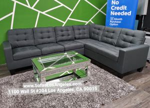 We Finance 😁 Visit Our Showroom - Grey L Shape Earsom Couch Sofa Sectional for Sale in Los Angeles, CA