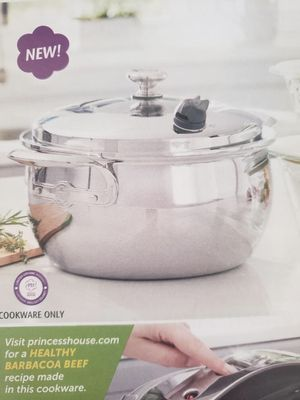 Princess House Vida Sana 5-Ply Stainless Steel 7 Qt. Casserole - NEW for Sale in Rialto, CA