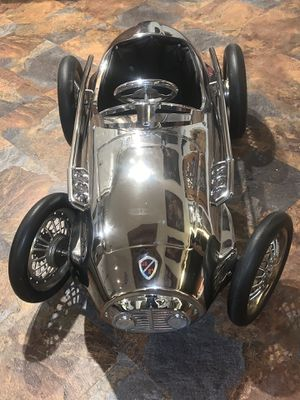 Stunning Vtg Chrome American Retro 1952 F2 Ferrari Giordani Indianapolis 500 Pedal Car for Sale in Meriden, CT