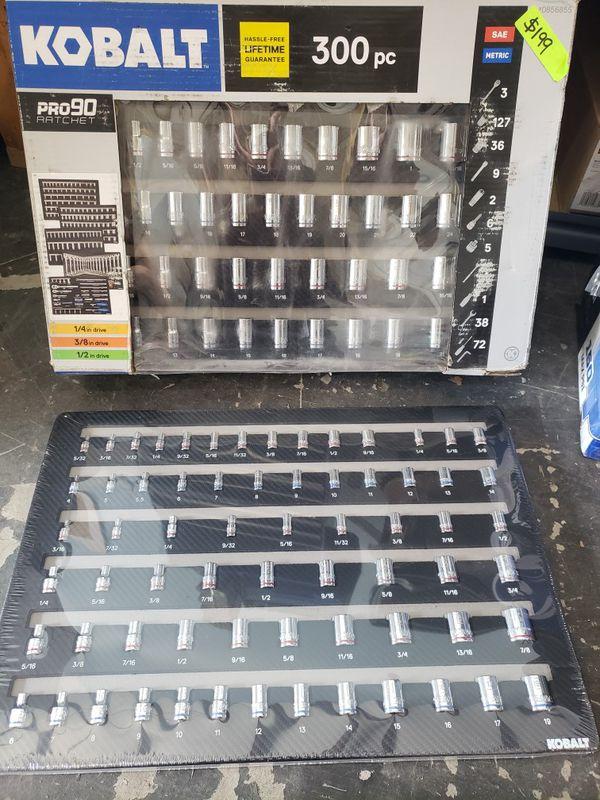 Kobalt 300pc Ratchet Set