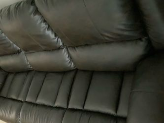 Black Recliner Sofa (Like New Just 4 Months Old) for Sale in Natick,  MA