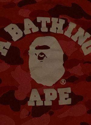 Red bape camo shirt for Sale in Auburn, GA