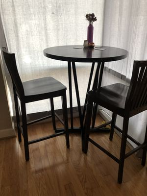 Solid wood bar table + 2 chairs for Sale in Chapel Hill, NC