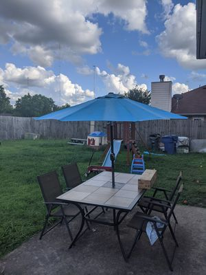 Blue patio umbrella only for Sale in Houston, TX