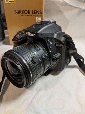 Nikon D5300 18-55 VR + 55-200 VR + 35mm 1.8 G lenses for Sale in Glendale, AZ