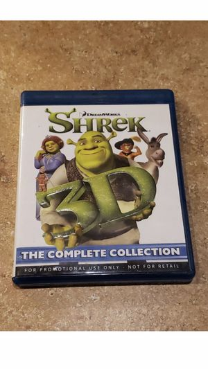 Shrek 3D: The Complete Collection - All 4 Movies (3D Blu-ray, 4-Disc Set) for Sale in San Jose, CA
