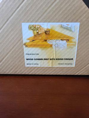 JOBAR'S Wood Corner Shelf W/ Hidden Drawer for Sale in Houston, TX