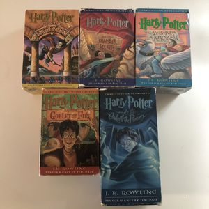Harry Potter Cassette Tapes Books 1-5 for Sale in Boston, MA