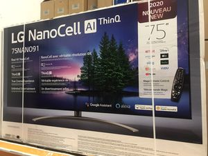 """75"""" lg 4k smart nano cell led tv for Sale in Norwalk, CA"""