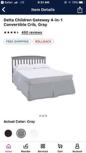 Grey baby crib for Sale in Moon, PA