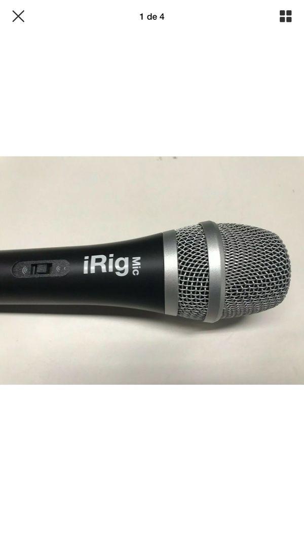 IK Multimedia ~ iRig Voice (black) Karaoke Microphone For smartphone and tablets