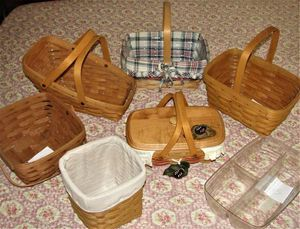 Longaberger Baskets they range in price from $5 - $25. .. Clean .. Smoke free. Remember Longaberger no longer makes baskets. Get them while you can. for Sale in Bristol, PA