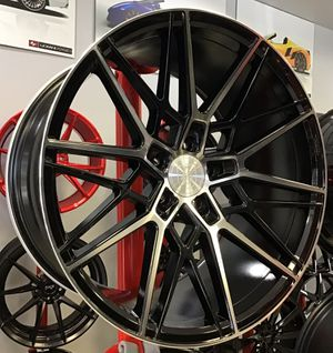"CONCAVE! New 20"" Staggered Axe CF1 Gloss Black Polished Silver Rims Wheels 5x4.5 Lexus Infiniti Toyota Lenso for Sale in Tampa, FL"