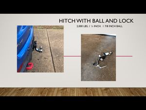 Hitch with ball and lock for Sale in Rolla, MO