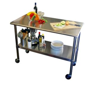 Stainless Steel Kitchen Cart, Island, table on casters for Sale in Phoenix, AZ