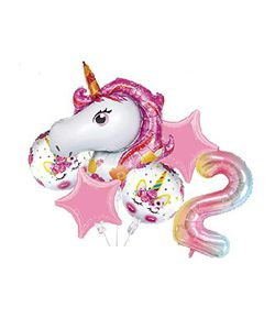 Birthday Party Balloons for Unicorn Theme Party Supply Balloon Decorations Set for Girls Kids (Number 2) for Sale in Long Beach,  CA