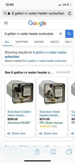 6 gallon RV water heater for Sale in Detroit, MI
