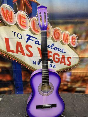 Purple Crescent Acoustic Classical Guitar for Sale in Las Vegas, NV