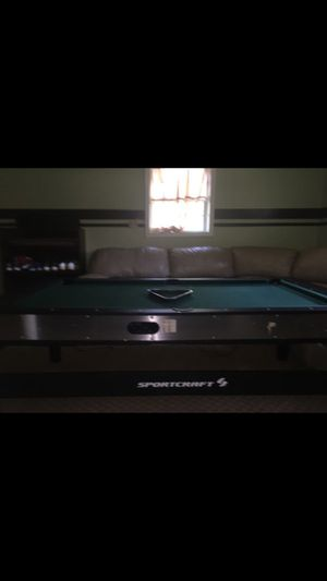 Sport craft 3 in one pool air hockey and ping pong table for Sale in Lanham, MD
