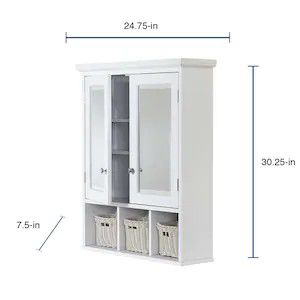 allen + roth 24.75-in x 30.25-in Rectangle Surface Mirrored Medicine Cabinet for Sale in Arvada, CO