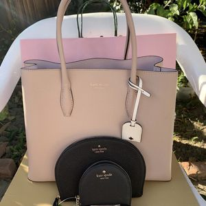 Kate spade purse Kate spade half moon wristlet and kate spade new york leather coin purse, Size ONE SIZE - Black And Kate spade shades NWT Serious in for Sale in Pico Rivera, CA