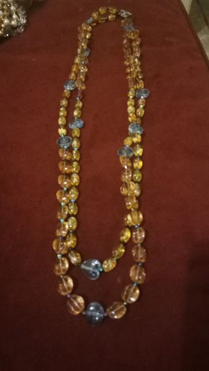 Multie light color Crystal glass beaded necklace for Sale in Colton, CA