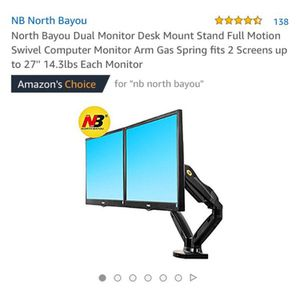 2 HP DESKTOPS & Dual Screen Mount Holder with 360' swivel [Brand New{ for Sale in Los Angeles, CA