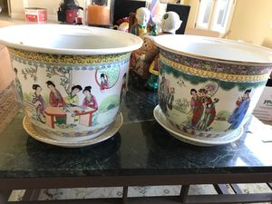 Hand painted oriental pots for Sale in Stockton, CA