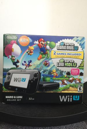 Wii U Mario and Luigi Deluxe Set for Sale in Ansonia, CT