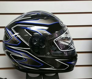 Motorcycle helmet full face medium black blue white brand new for Sale in San Diego, CA